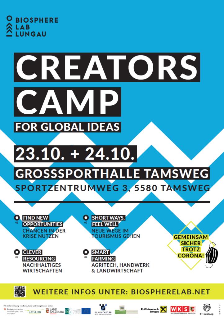 Biospherelab Creators Camp Plakat